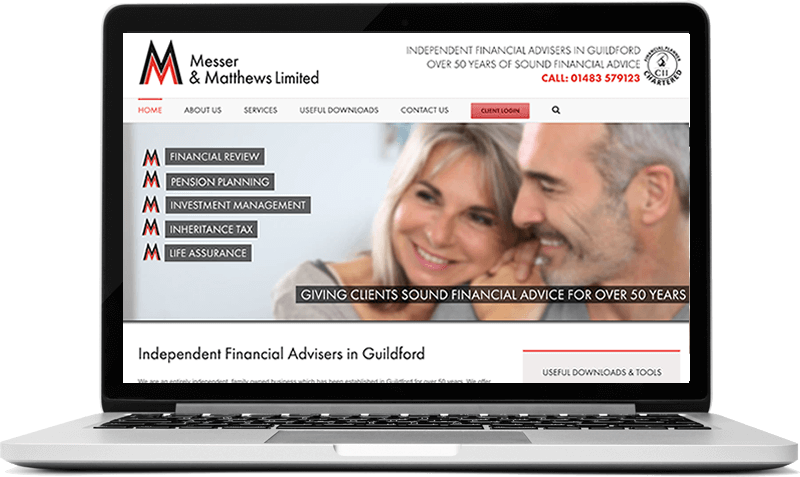 Website for Financial Advisors In Guildford