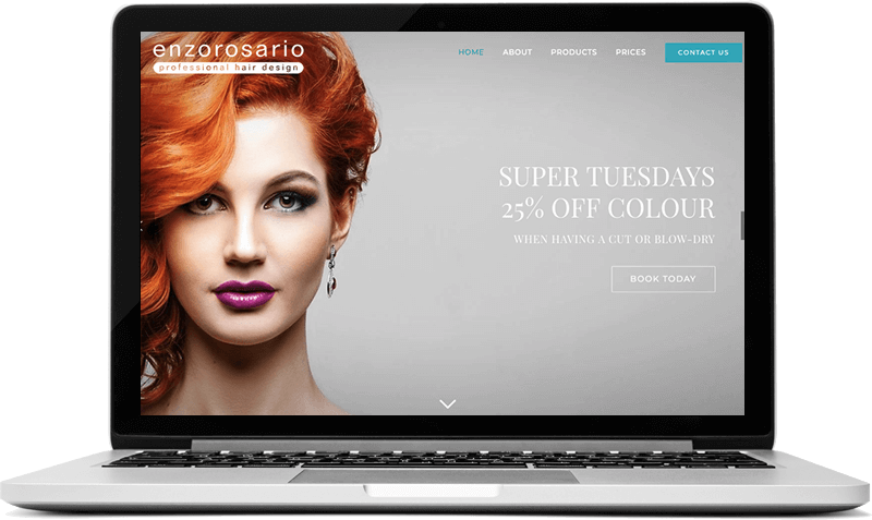 Hair Salon Website in Guildford