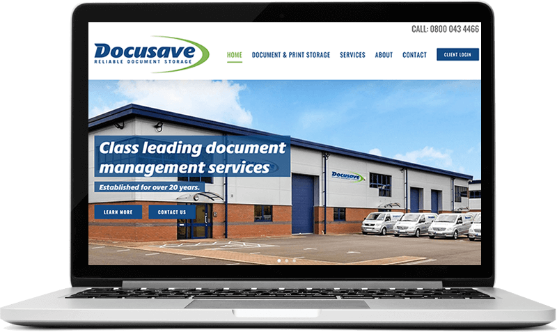 Docusave - Document Management Company Wesbite