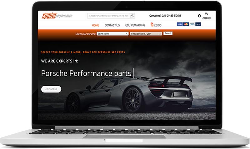Porsche Car Part Website - Spyder Performance